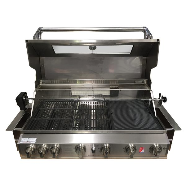 601WB-W Smart 6 Burner Built In BBQ Cooking & Grilling Surface