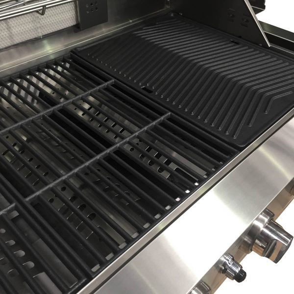 601WB-W Smart 6 Burner Built In BBQ Open & Flat Grill Plates