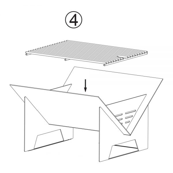 CG003 BBQ Fire Pit Assembly Instructions - 4