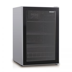HUSCNSIL - Husky Single Glass Door Bar Fridge