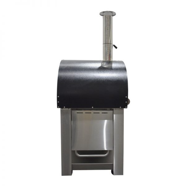 Smart Stainless Steel Woodfired Pizza Oven - Side View