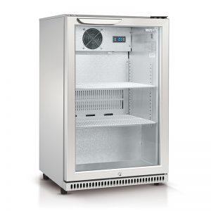 Husky 110L Single Glass Door Bar Fridge in Silver | HUS-C1-840